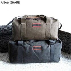 ANAWISHARE Männer Reisetaschen Große Kapazität Frauen Gepäck Reise Duffle Taschen Leinwand Große Reisetasche Handtasche Folding Reise Tasche Wasserdicht