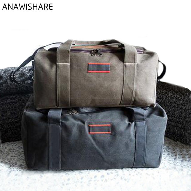 e81a5e4964e20 ANAWISHARE الرجال السفر أكياس كبيرة قدرة المرأة الأمتعة السفر حقائب قماش  قماش كبيرة حقيبة يد للسفر