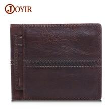 Joyir fashion men real leather wallets male brand genuine leather wallet short purse with zipper coin pocket men wallets 2007