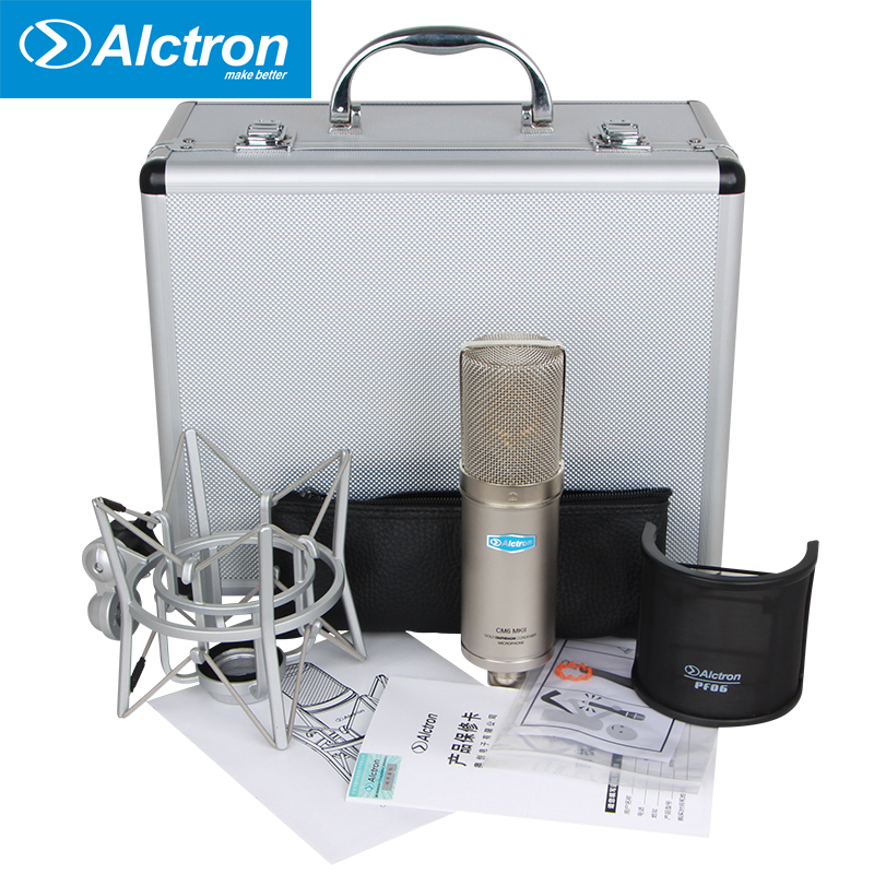 Alctron CM6MKII Professional Condenser Microphone for Studio Recording with Shock Mount and pop filter