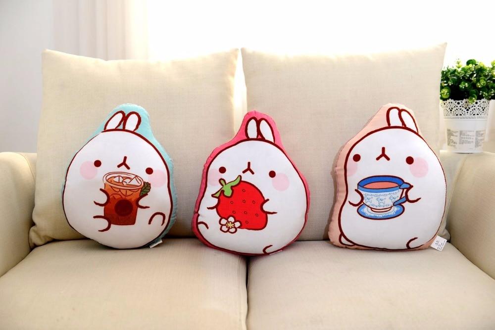 35cm Korea Molang Rabbit Plush Toy Molang Potato Rabbit Stuffed Pillow Fat Rabbit Doll Pillow Cushion