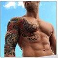 Пользовательские Тотем Водонепроницаемый Большие Временные Татуировки Наклейки Мужчины Рук Ног Поддельные плечо Татуировки Дракона Tatuagem лягушки размером 24*18 см
