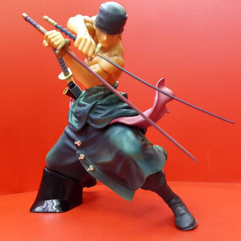 Anime One Piece Roronoa Zoro Figurine Japanese One Piece Zoro PVC 17CM Action Figure Collectible Model Doll Christmas Kids Toys one piece figura japanese anime figure sabo pop one piece action figure pvc figurine bonecos do one piece figura toys juguetes