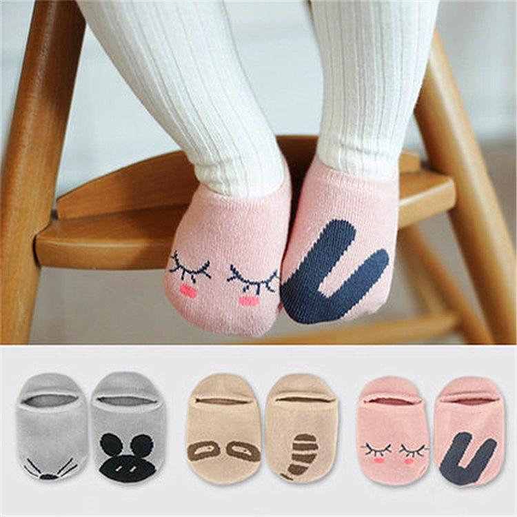 Floor Wear Floor Non-Slip Cotton Cartoon Socks Girls Socks Stripe Baby Socks ON