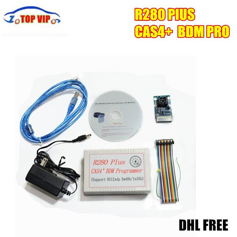 DHL Бесплатная CAS4 BDM программист R280 плюс поддержка cas, CAS4, ews4, ezs mc9s12xep100 микросхеме (5m48h/1n35h) автомобиля сканер автомобиля инструменту диагностик...