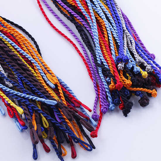 "20pcs 18"" 2mm Black Silk Thread Cord String To European Charm Necklace"