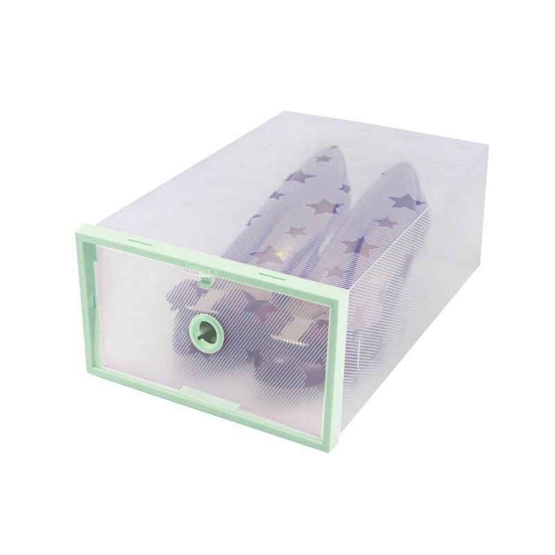 Transparent Stackable Plastic Shoe Storage Box Case home shoe case accessories for Men / Women 4 Colors
