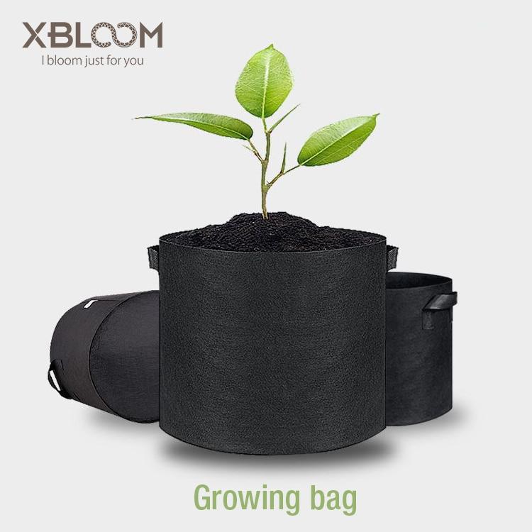 1-10 Gallon Fabric Grow Bags Breathable Pots Planter Root Pouch Container Plant Smart Pots Handles Garden Supplies Flower Pot