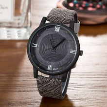 Fashion Wood Face Casual BGG Luxury Brand Women's Watch Wood Retro Vintage Female Clock Leather Quartz Ladie Watch