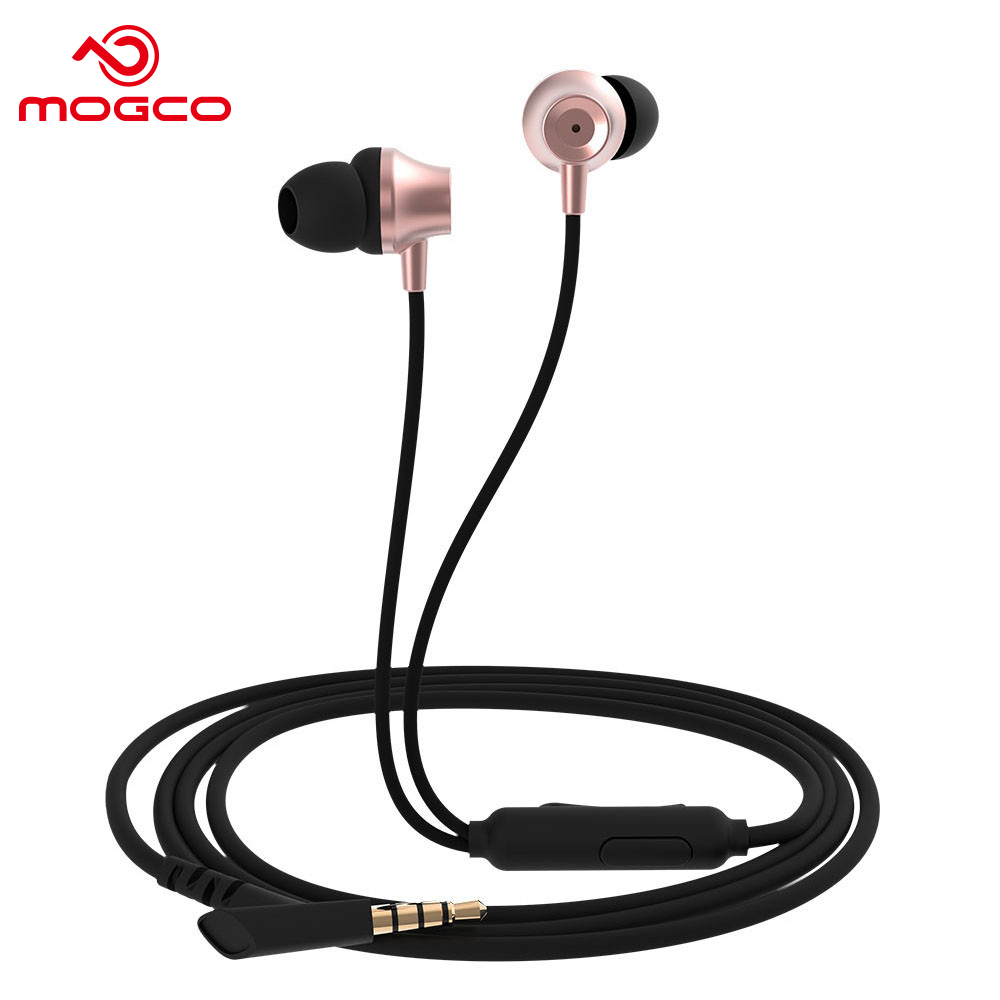 MOGCO IE-M11 Earphone Heavy Bass Sound Stereo Earbuds Wired Control Headset Phone Earpiece In-Ear Earphone With Microphone