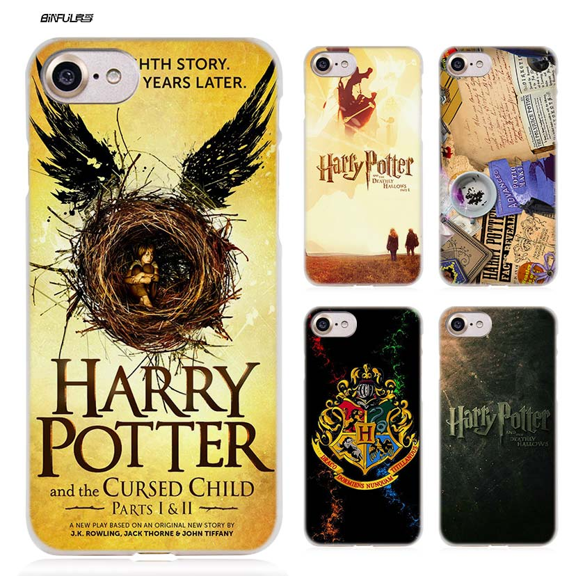 BiNFUL Harry Potter New Hard Clear Case Cover Coque for iPhone X 6 6s 7 8 Plus 5s SE 5 4s 4 5c