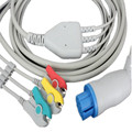 Бесплатная доставка один кусок 3 провода ECG Leadwire  для круглого 10pin Datex-Ohmeda ECG кабель ECG trunk кабель с зажимом конец IEC