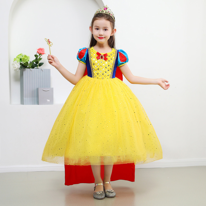 Christmas Dress Girls Children's Wear Skirt Princess Dress Children Snow White Costume Cosplay Birthday Gift