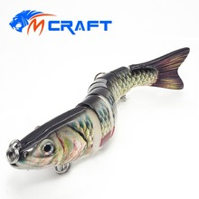 Купить с кэшбэком 13.5cm 28g Fishing lure Hard Bait Swimbait 8 Segments Fishing Lures  Sinking Wobblers Crankbait Tackle