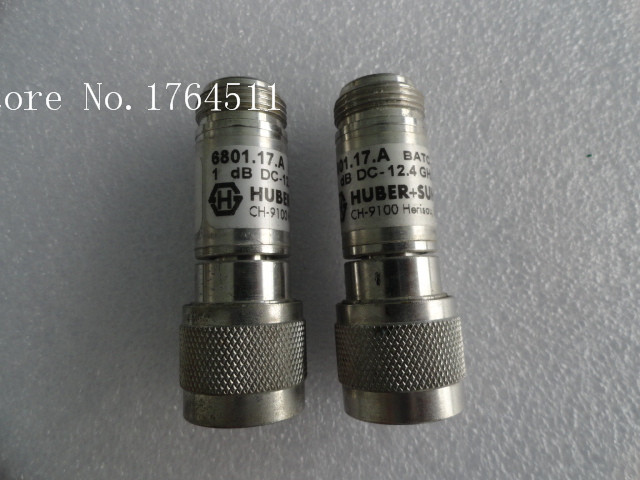 [BELLA] HUBER+SUHNER 6801.17.A DC-12.4GHZ 1dB N Coaxial Fixed Attenuator