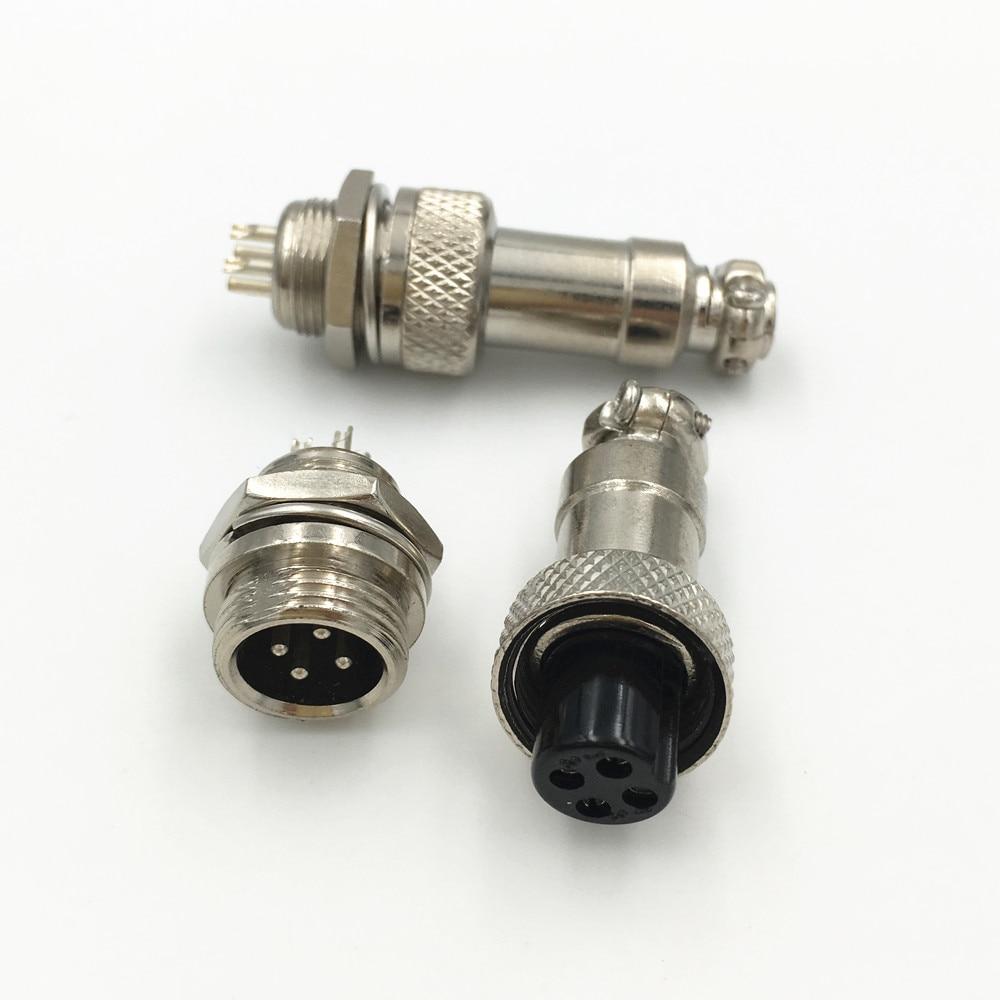 Solder Type 12 mm 4 Pin Microphone Connecteur Plug CB Radio Amateur