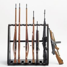 1/6 Weapons Gun Model Toys Accessory Wood Storage Rack Stand Rifle Rack Toys Gifts Collections