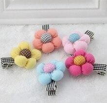 2015 Корейский плед цветы заколки головной убор кнопки тыквы цветок ребенка acessorios para cabelo
