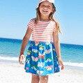 Девушки День Рождения Платье Лето 2017 Марка Ribe Fille Enfant Малышей Платье Принцессы Костюм Pattern Характер Детей Платья Дети