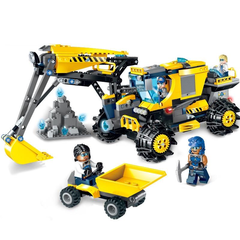 457pcs Children s building blocks toy Compatible city Engineering spar squad giant excavator DIY figures Bricks