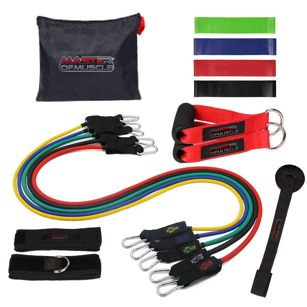 Procircle Resistance Bands set - 11Pcs Expander Tubes Rubber Band - Ֆիթնես և բոդիբիլդինգ