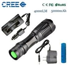 ZK20 e17 DEL CREE XM-L t6 4000 lúmenes led linterna antorcha luces e iluminación ajustable antorcha para AAA y 18650 baterías recargable