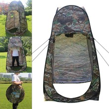 цена на 180T Portable Outdoor Shower Camouflage Tent Camping Shelter Beach Toilet Privacy Changing Camouflage Room Moving Folding Tents