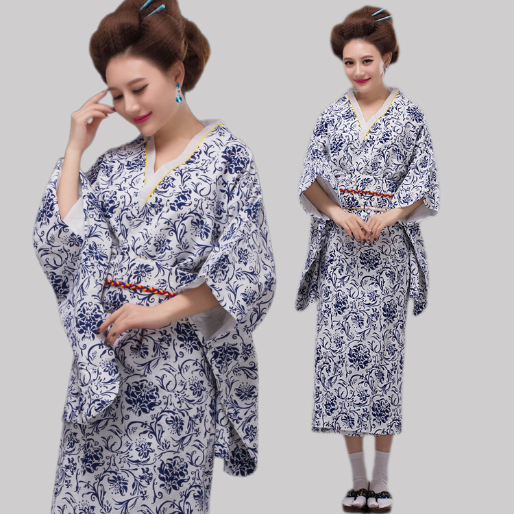 Kvinnor Elegant Sexig Traditionell Japansk Kimonos Damblom Japansk - Nationella kläder - Foto 1