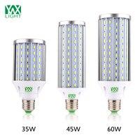 YWXLight E27 de Alumínio de Alta Potência de Luz de Milho 35 W 45 W 60 W 5730 SMD 108 140 160 LED AC 110 V 220 V 85 V-265 V Sala de estar iluminação