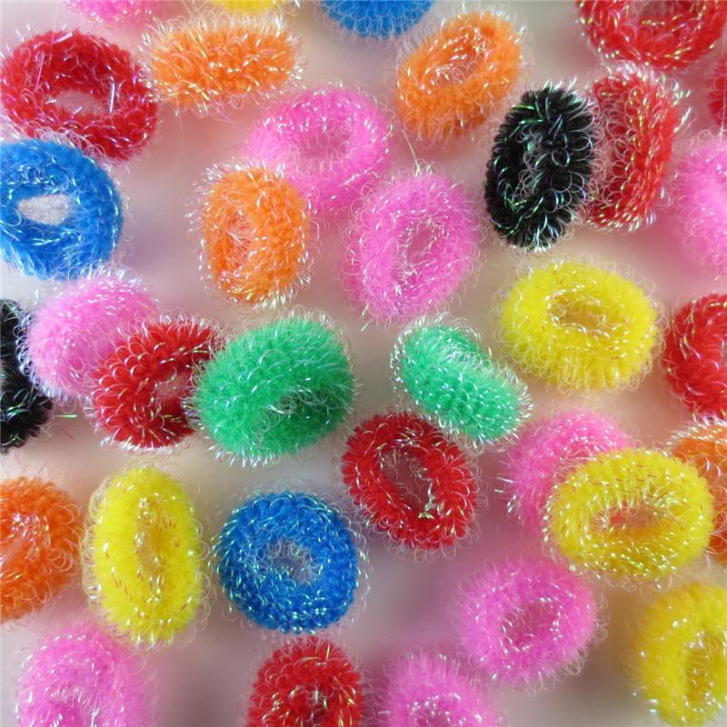 AKWZMLY 35 Unids / pack Banda para el cabello para niños lindos Diadema sólida Mini anillo Niños Sombreros Goma para niñas Pulsera Accesorios para el cabello