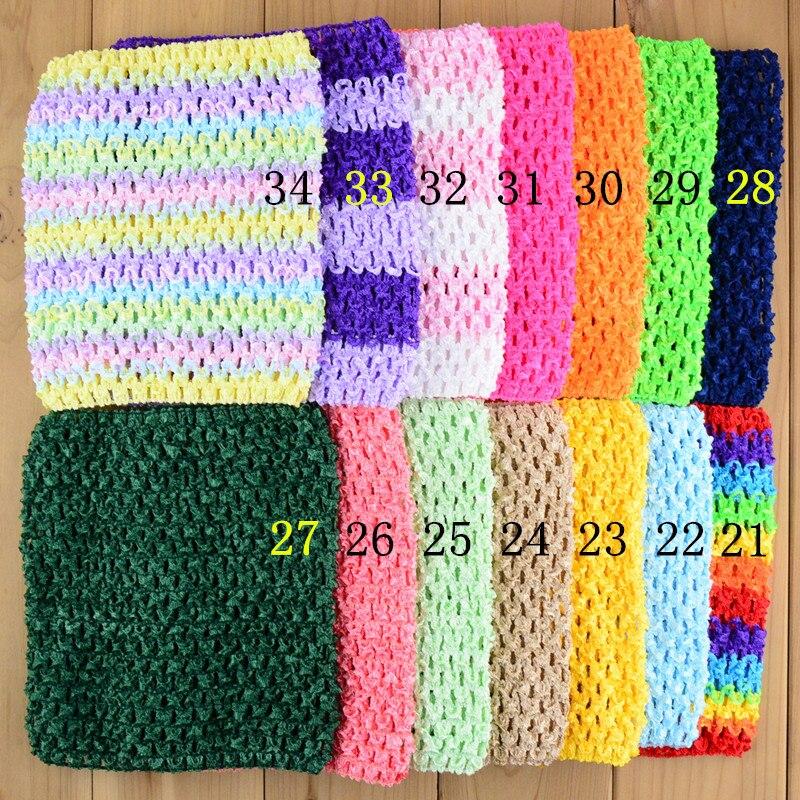 30pcs lot 34C New 15cmX15cm 6inch Crochet Tutu Tube Tops Chest Wrap wide Crochet headbands Christmas