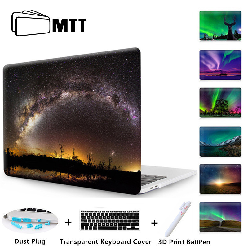 MTT Aurora Case For New 2017 Macbook Pro 13 15 Touch Bar Starry Sky Cover For Mac book Air 13 12 11 Pro Retina 13.3 15.4 Case