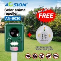 Buy AOSION Solar Ultrasonic Animal Birds Dogs Cats Repeller Repellent Got Ultrasonic Cockroach Repeller For Free
