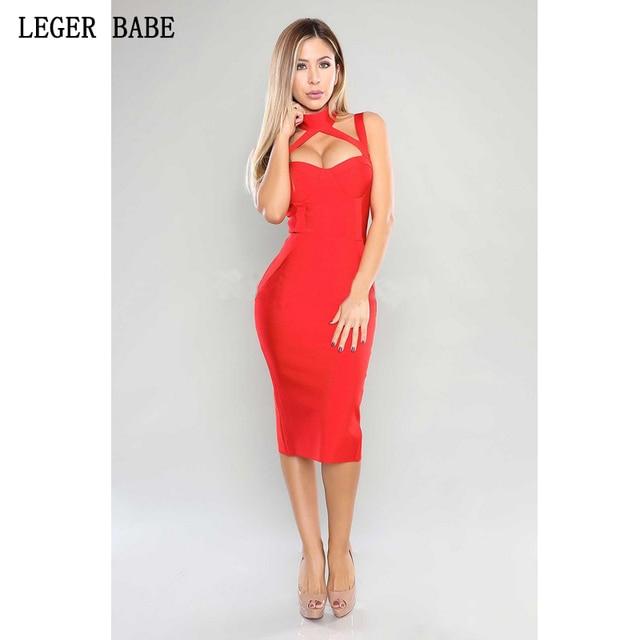 2f1553f9e0a 2019 Red Bandage Bodycon Dress Lady Cocktail Sexy Dresses Party Night Club  Dress 2019 Unique Design Women Spaghetti Strap Dress
