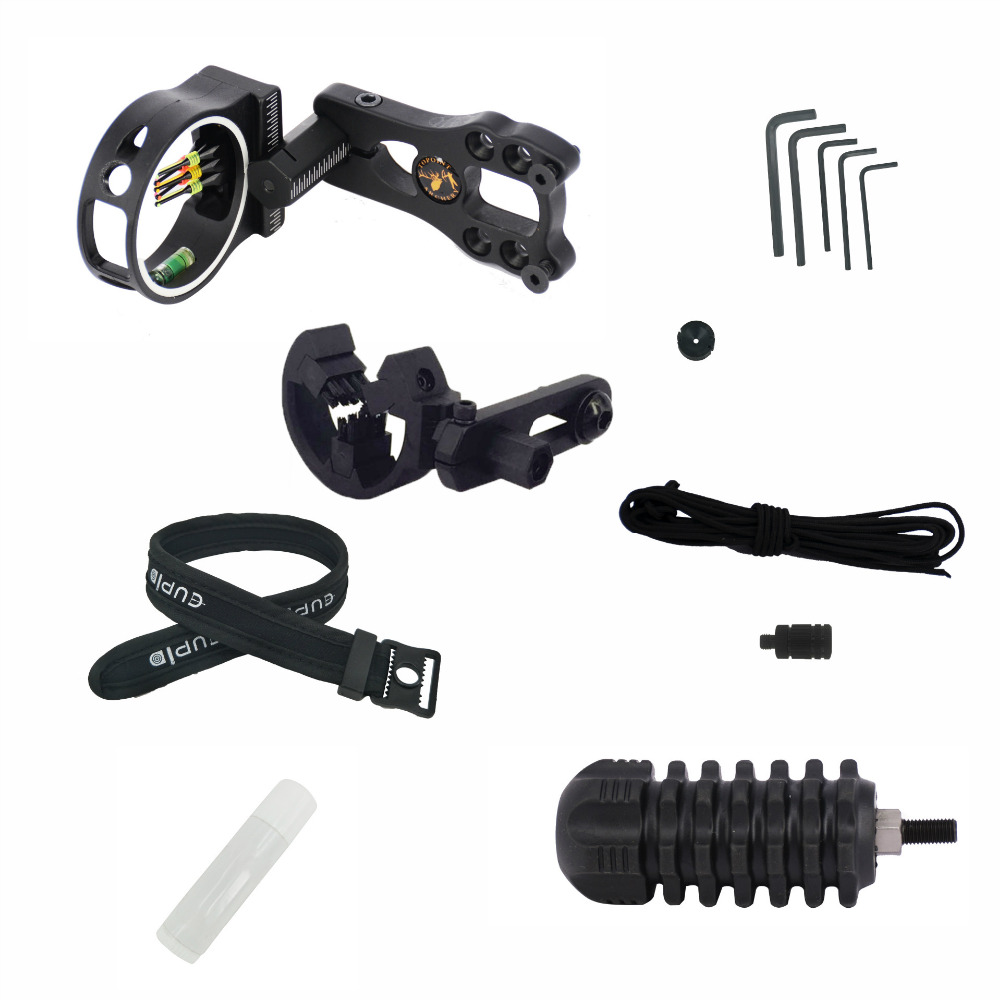 Archery upgrade combo bow sight kits arrow rest stabilizer Compound Bow Accessories for Compound Bow 12 archery carbon arrow spine300 340 400 500 600 fluorescent yellow shaft compound bow shoot id6 2mm protect ring nock