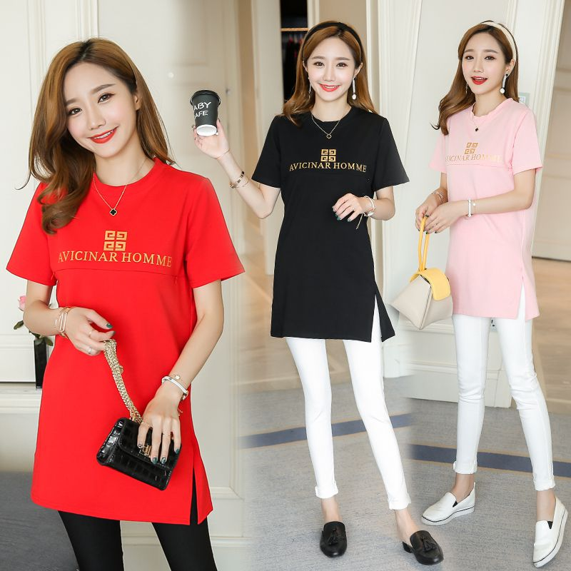 2018 summer Korean version of the new set of head in the long paragraph loose fashion nursing clothes out breastfeeding jumpsu