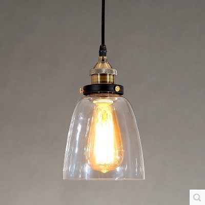 60W American Edison Pendant Lights Fixtures Vintage Industrial Lighting Glass Lampshade In Retro Loft Style glass lampshade retro pulley pendant light fixtures in style loft industrial lamp eidson indoor lighting