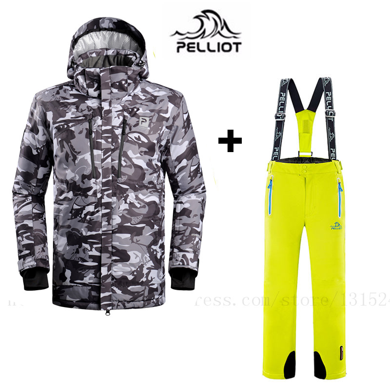 Pelliot Free Shipping French  Ski Suit More Authentic Outdoor Waterproof Winter Warm Breathable Double Plate Ski Jacket And Pant
