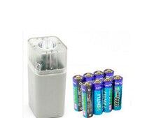 KENTLI 8 pcs 1.5 v 3000mWh Li-polymère r au lithium rechargeable AA batterie + 4 slots Chargeur w/LED lampe de poche fuction
