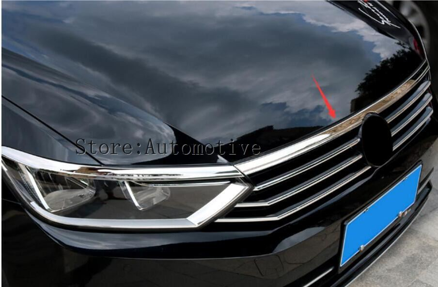 Competent 2017 2018 2019 For Vw Passat B8 Chrome Front Hood Bonnet Grill Molding Cover Trim Grille Net Bezel Garnish Mesh Styling Relieving Heat And Sunstroke Exterior Accessories