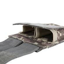NUEVA cubierta de pistola de aire al aire libre, bolsa de caza militar de combate 600D Nylon Molle, bolsa de pistola de dos manos, estuche de cuero cerrado práctico