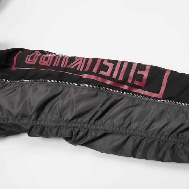 EVISU 2018 New Autumn Winter Men's Hip Hop Jackets Classic Black Leisure Jacket Men Arm Letter Outerwear Coats EVISUKURO