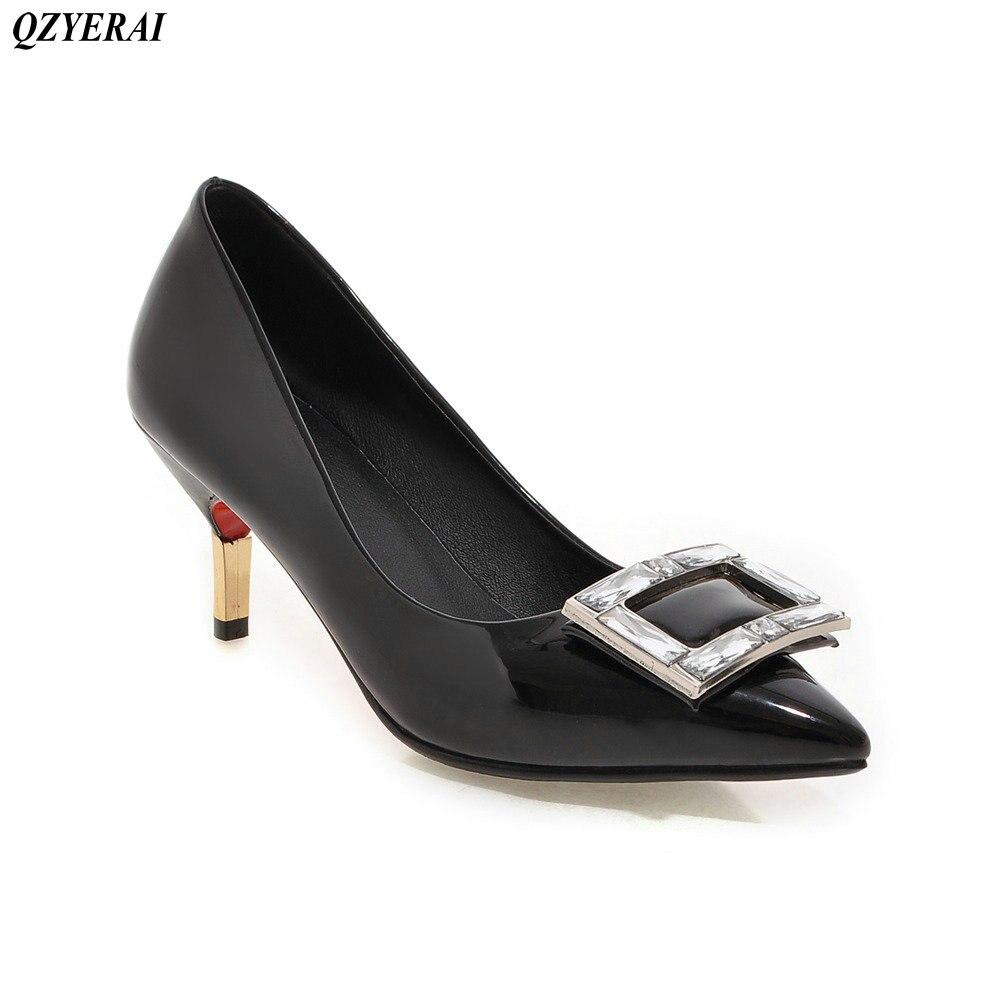 QZYERAI The new spring and summer the metal stilettos font b shoes b font high heels