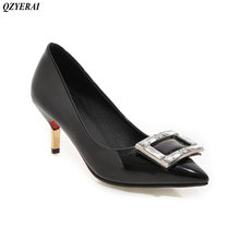 QZYERAI The new spring and summer the metal stilettos shoes high heels pointed women s shoes