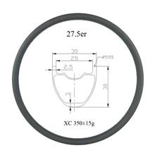 27.5 inch 650B MTB XC 30mm x 30mm tubeless hookless carbon rim UD 24 holes 28H 32 holes 27er cross country mountain bike wheel