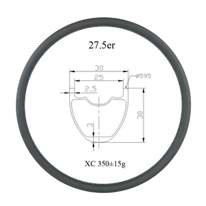 Image 1 - 27.5 inch 650B MTB XC 30mm x 30mm tubeless hookless carbon rim UD 24 holes 28H 32 holes 27er cross country mountain bike wheel