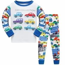 Autumn Children Clothes Kids Clothing Set Boys Pajamas Sets Animal Styling Nightwear Car Print Sleepwear Baby Pyjama