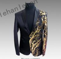2019 Mens Blazer Sequin Jacket Blazer Men Veste Costume Homme Men Black Gold Tuxedo Summer Deluxe Men's Sequin Jacket