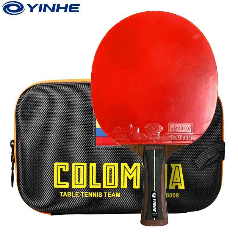 YINHE Galaxy 12 stars 12B 12D National Table tennis racket Ddouble Pimples-in rubber Ping Pong tenis de mesa table tennis