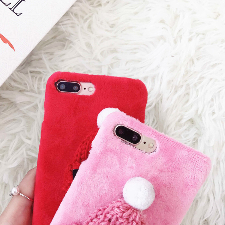 Plush Furry Case For Iphone Xs Max Xr X 8 7 6 6s Plus Christmas